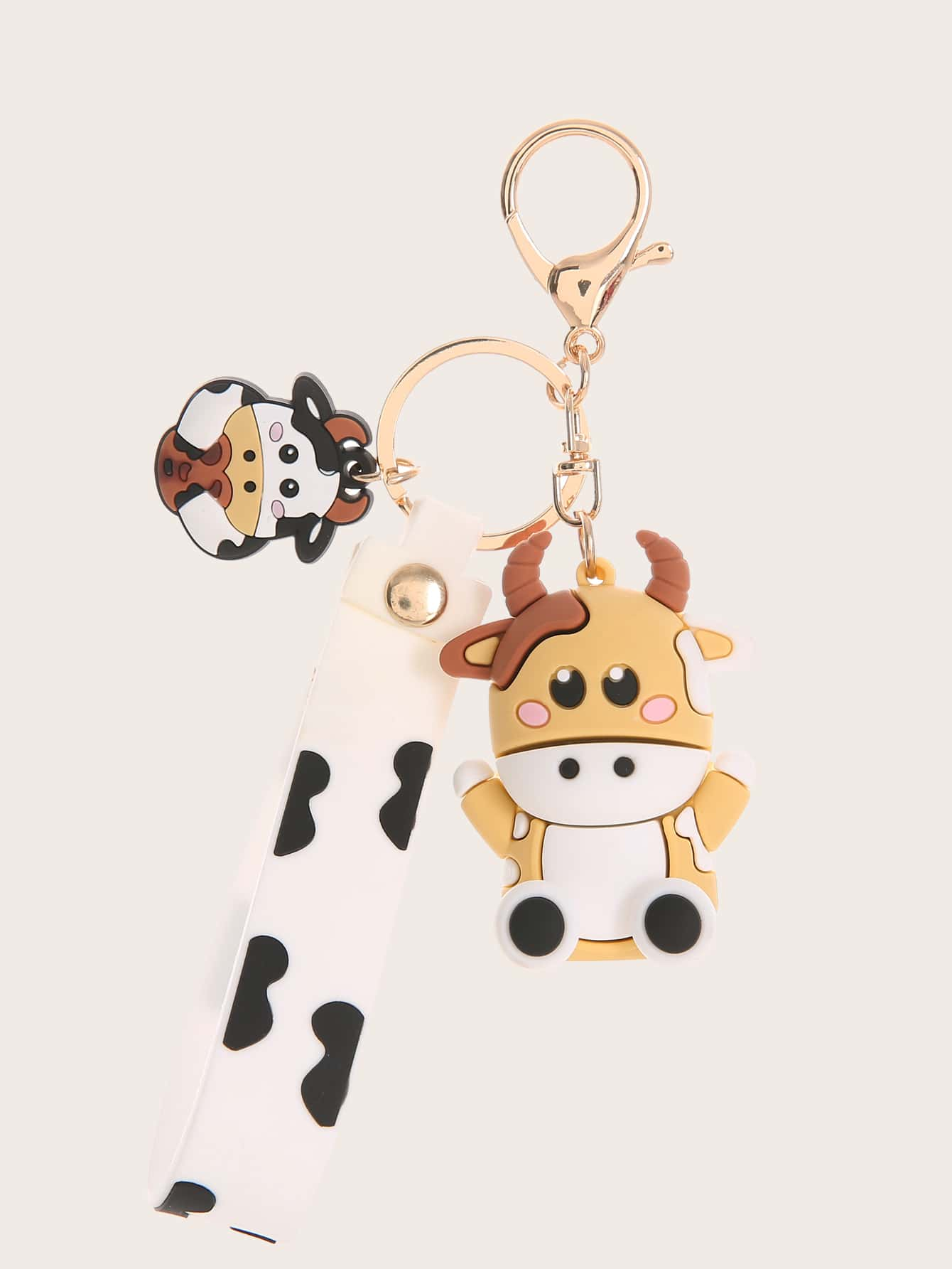 Cartoon Cow Decor Bag Charm thumbnail