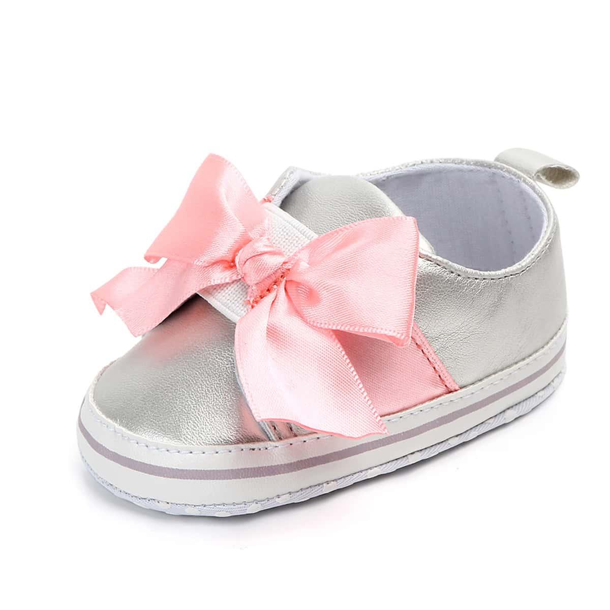 С бантом одноцветный кроссовки для малышей