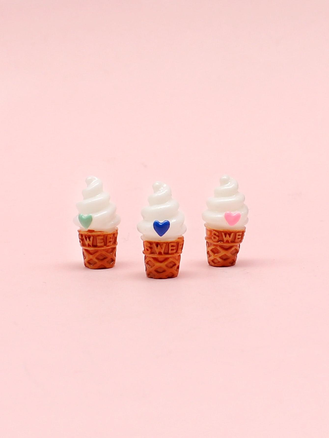 3pcs Ice Cream Design Brooch thumbnail