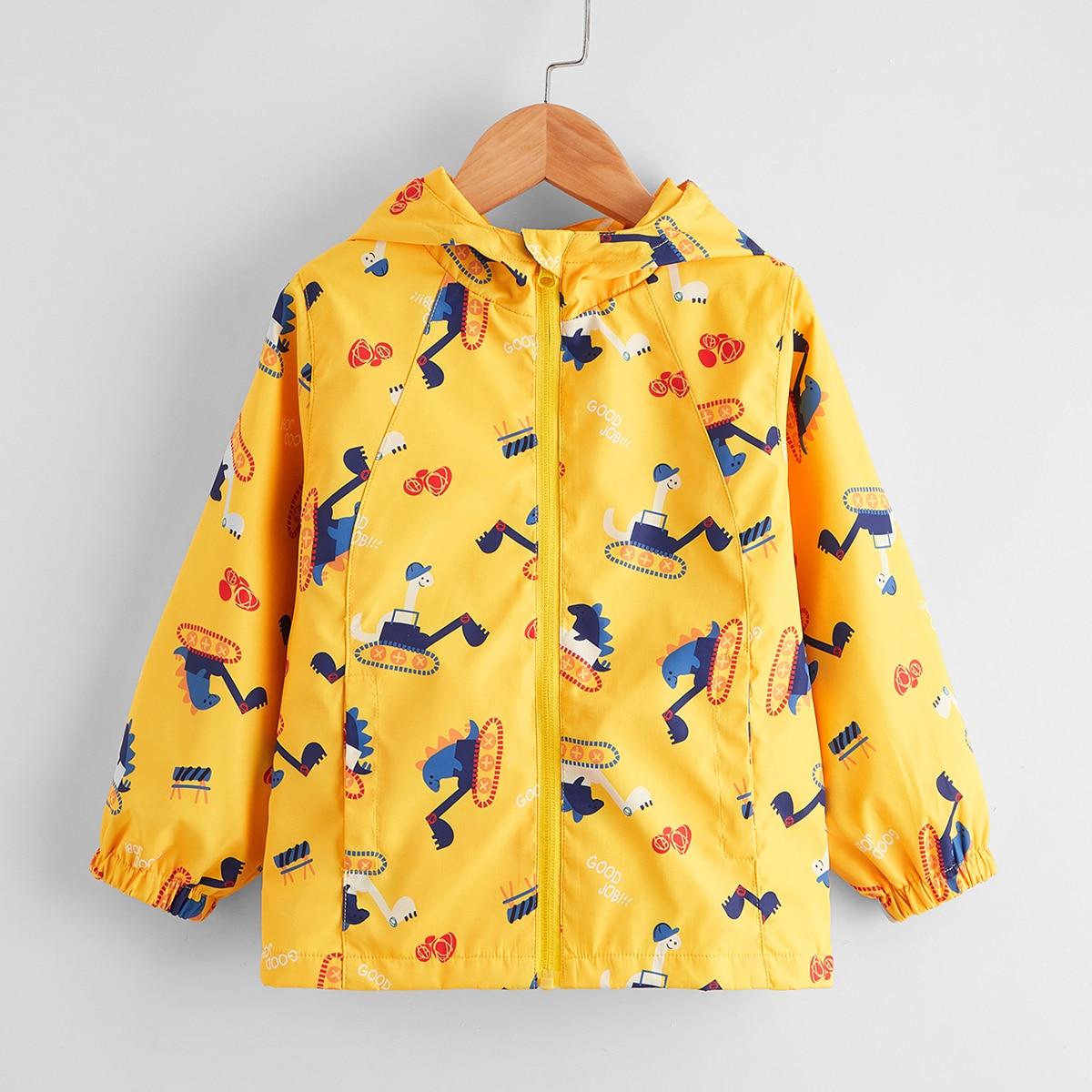 Куртка с капюшоном и принтом для мальчиков