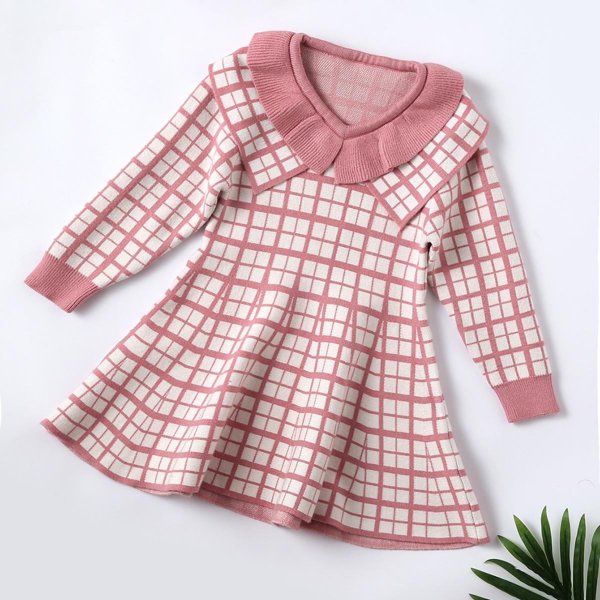 Клетка институтский трикотажные платья для девочек