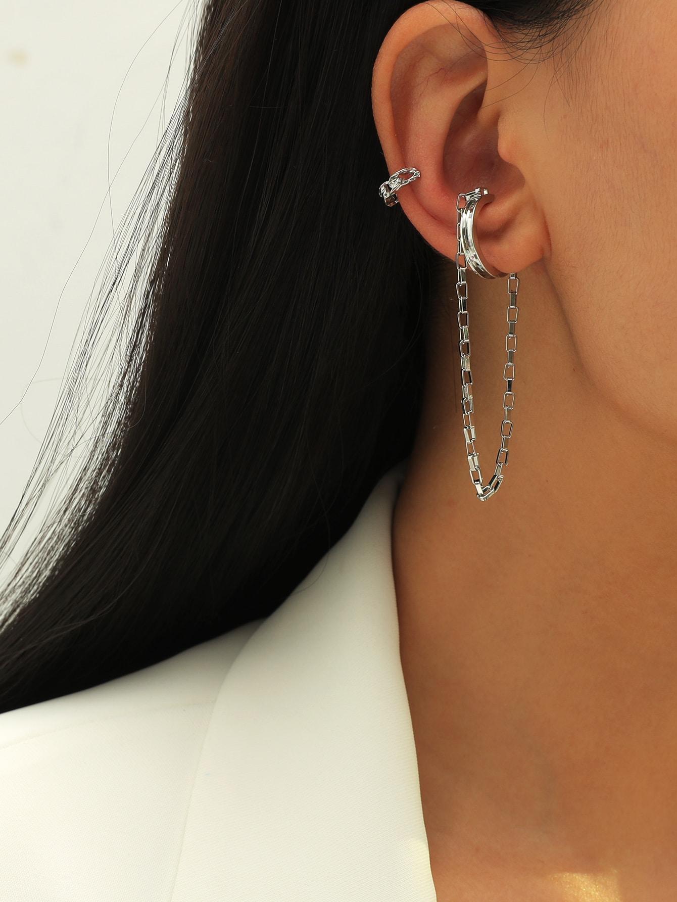 2pcs Chain Decor Ear Cuff thumbnail