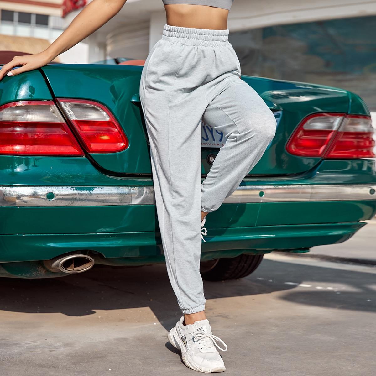 Однотонные спортивные брюки