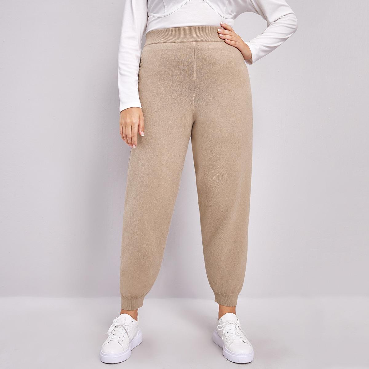 Вязаные брюки размера плюс