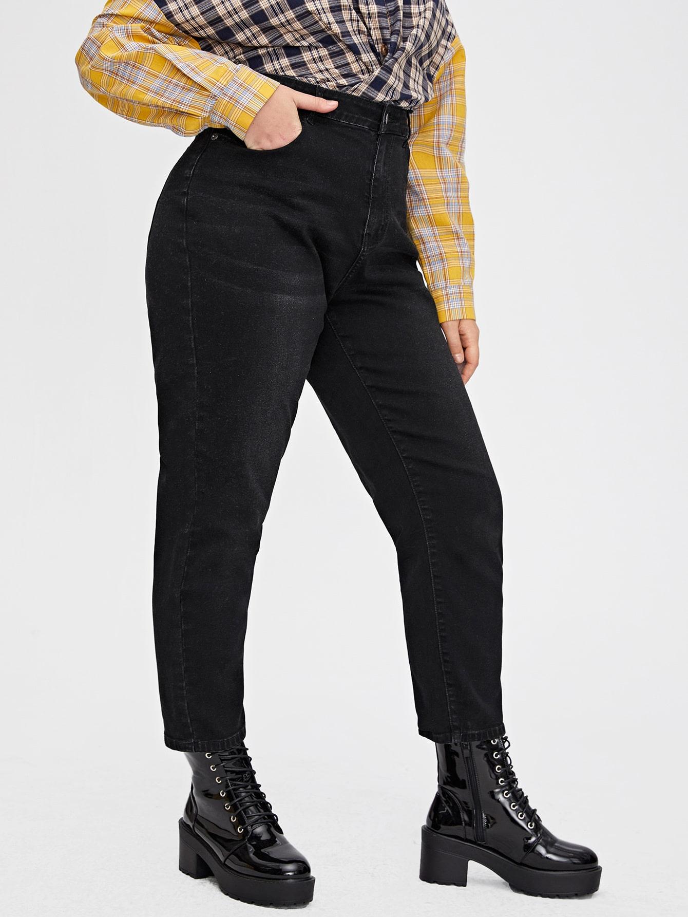 Plus High Waist Mom Jeans thumbnail