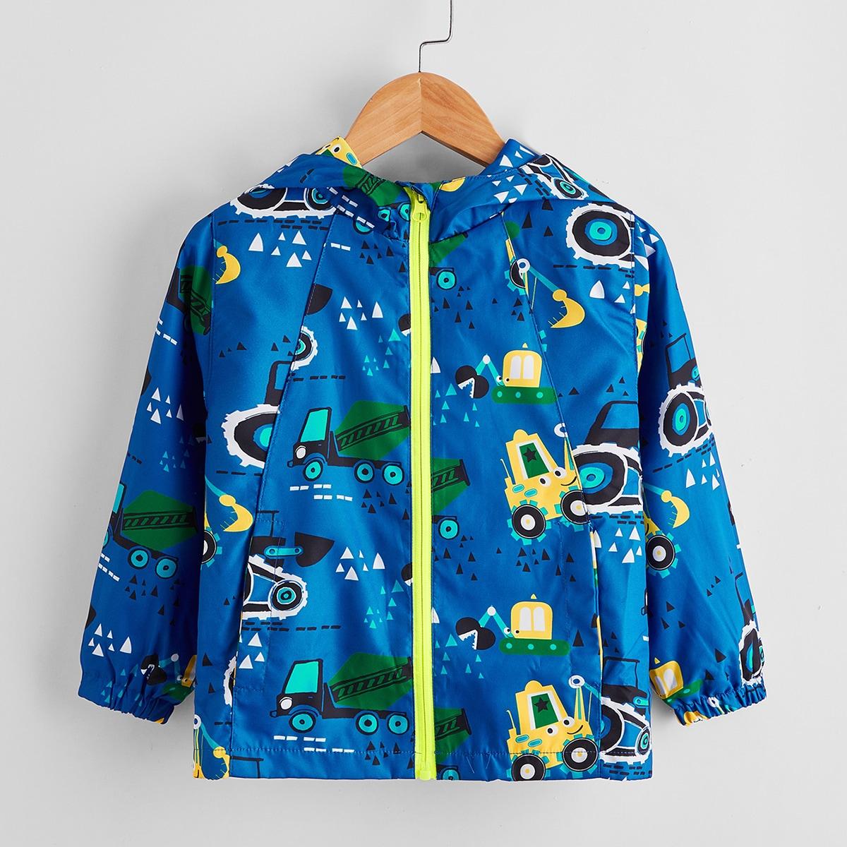 Куртка-ветровка с мультипликационным принтом для мальчиков