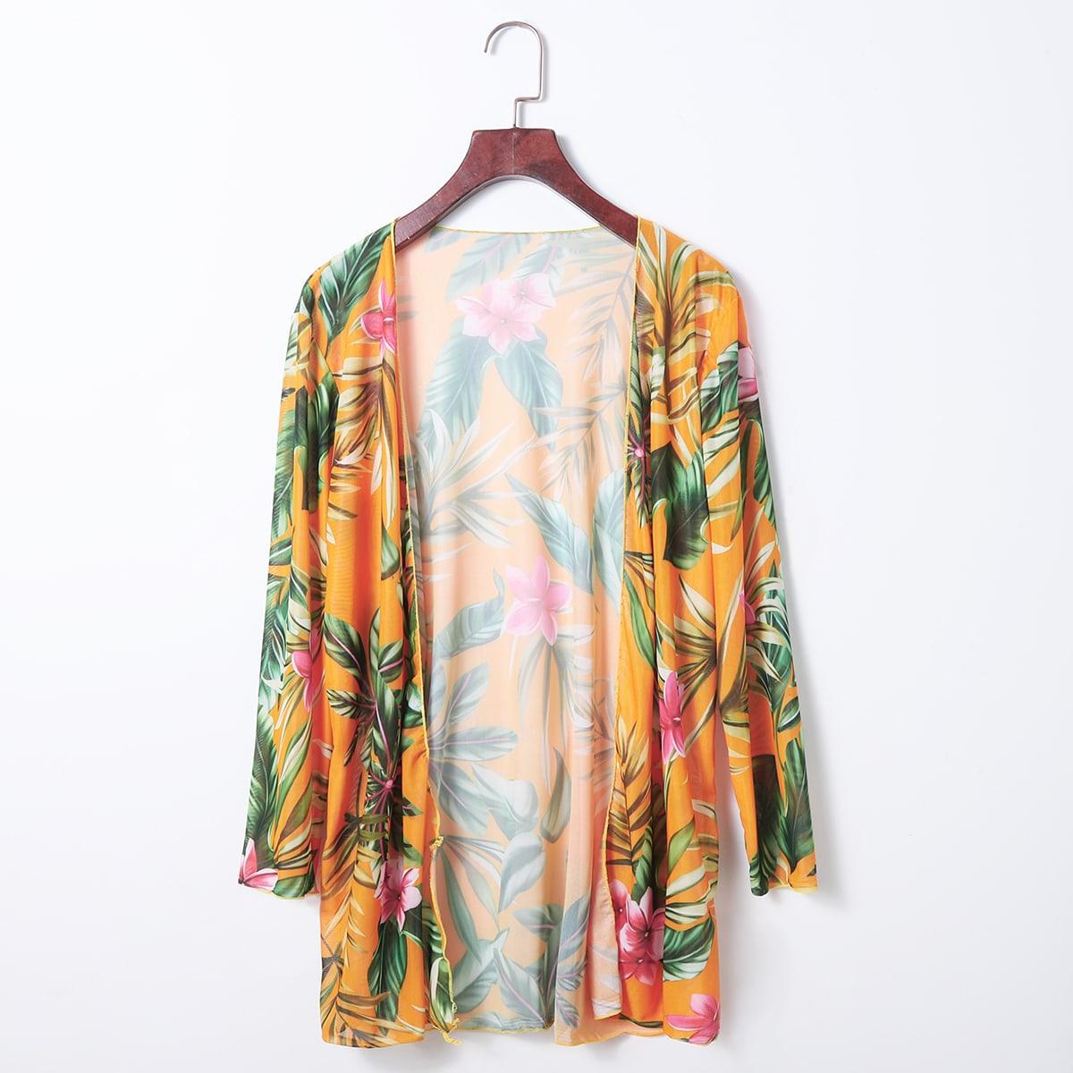 Цветочный бохо кимоно