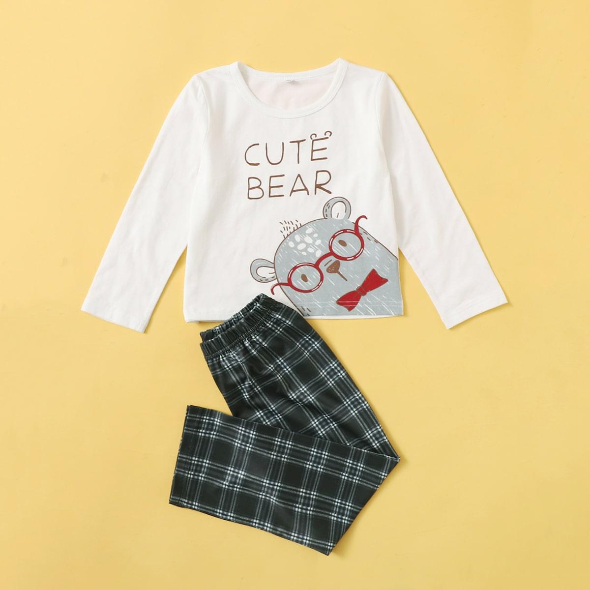 Пижама соригинальнымпринтом для мальчиков