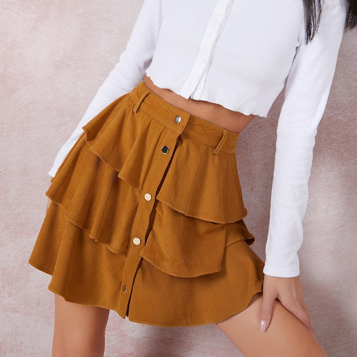 Многослойная юбка с оборкой