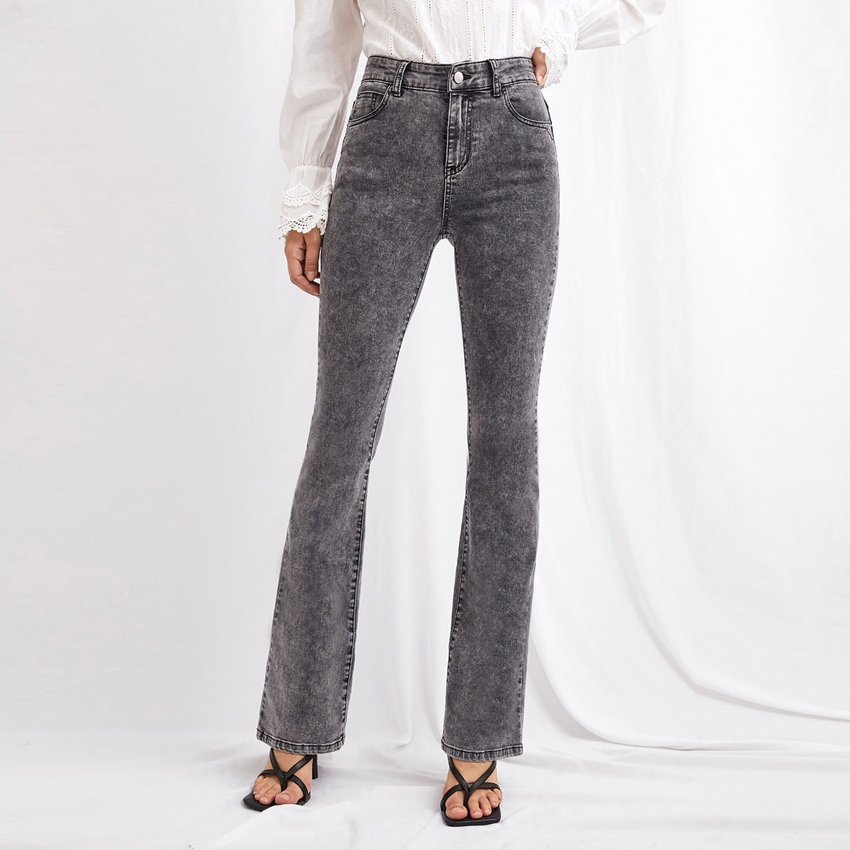 High-Waisted Dinner Date Flare Jeans