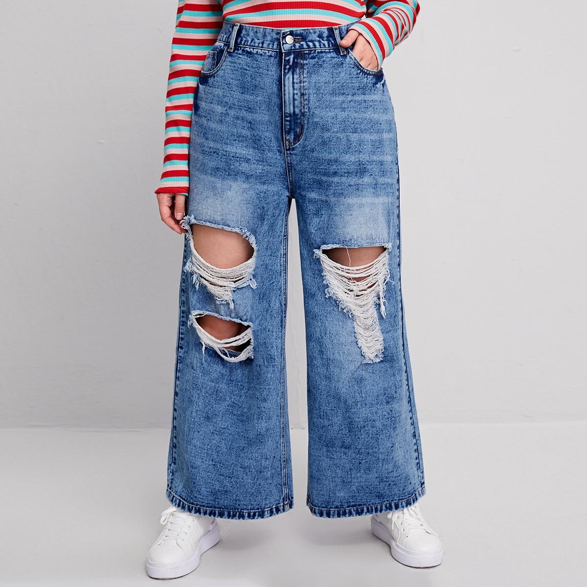 Рваные джинсы размера плюс