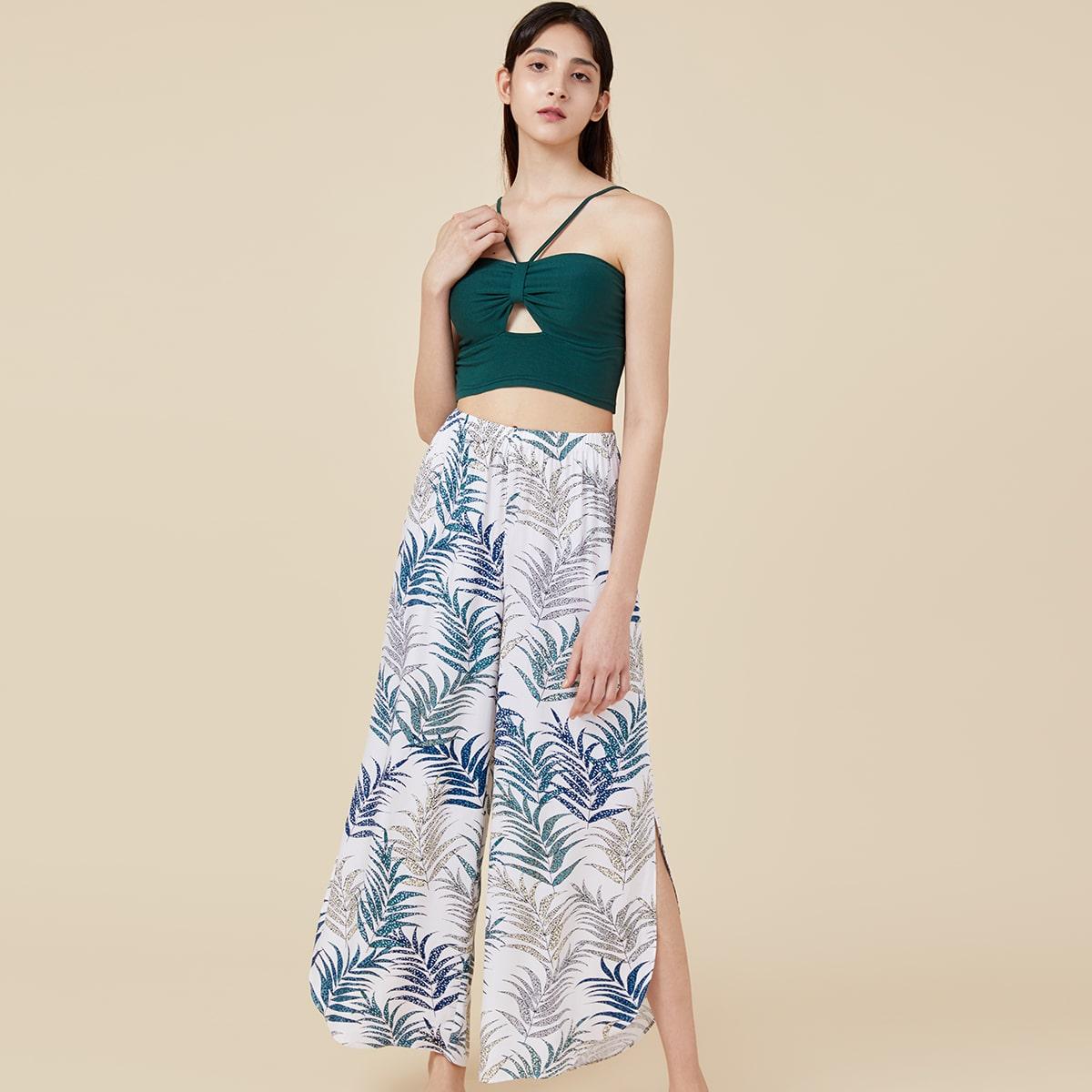 PJM пижама с тропическим принтом