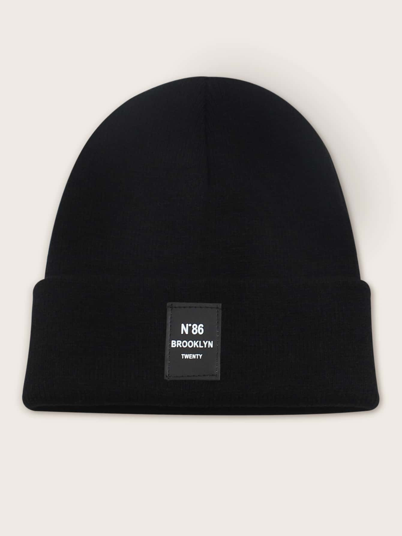 Letter Patch Cuffed Beanie thumbnail