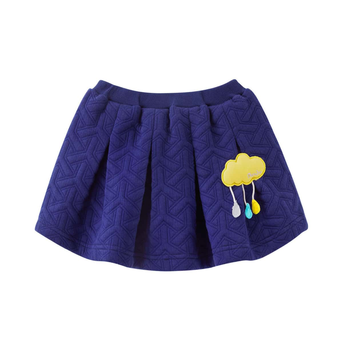 Плиссированная юбка с заплатой облака для девочек