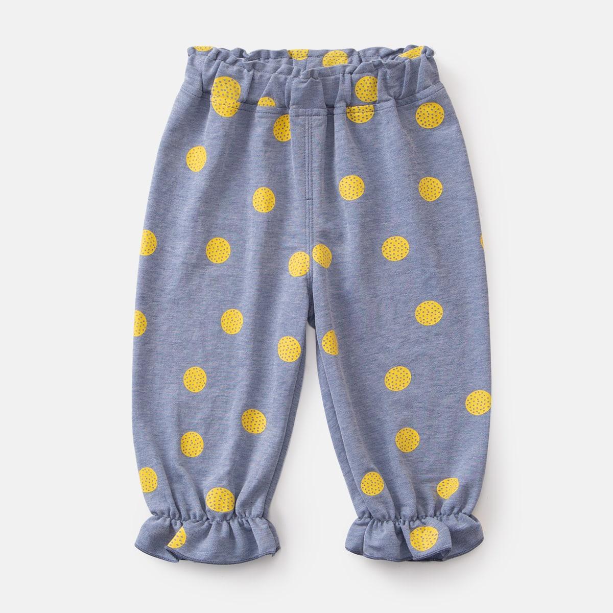 С оборками в горошёк милый брюки для маленьких девочек