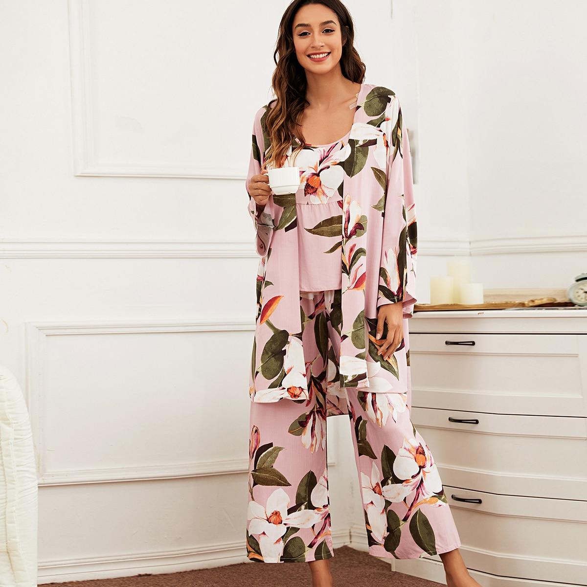 Цветочный принт Элегантный Пижама