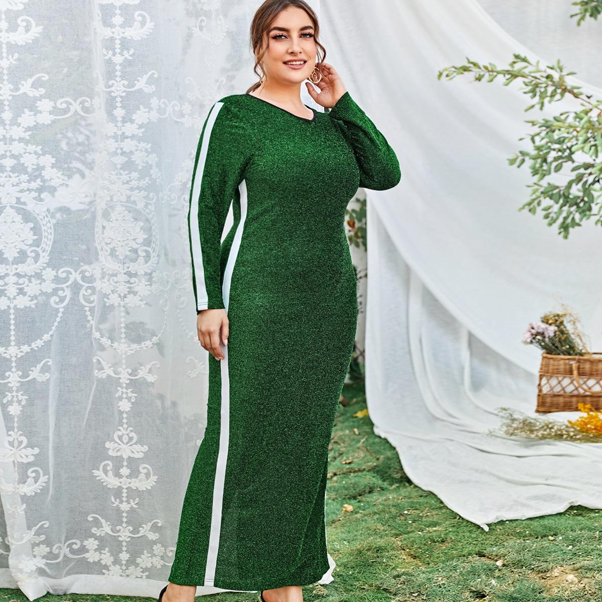 Блестящее платье размера плюс
