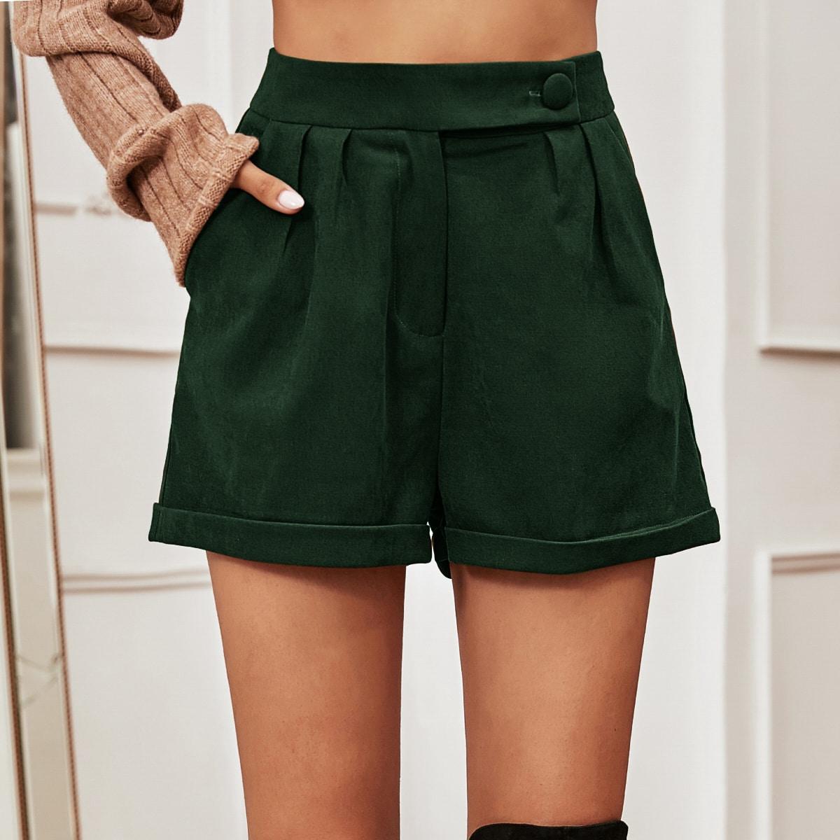 Замшевые шорты с карманом