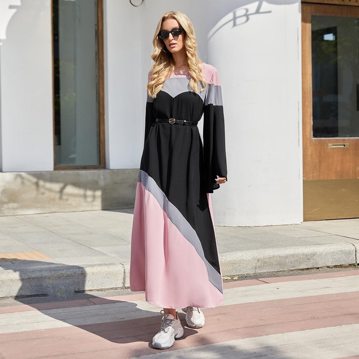 Контрастный цвет скромный арабская одежда