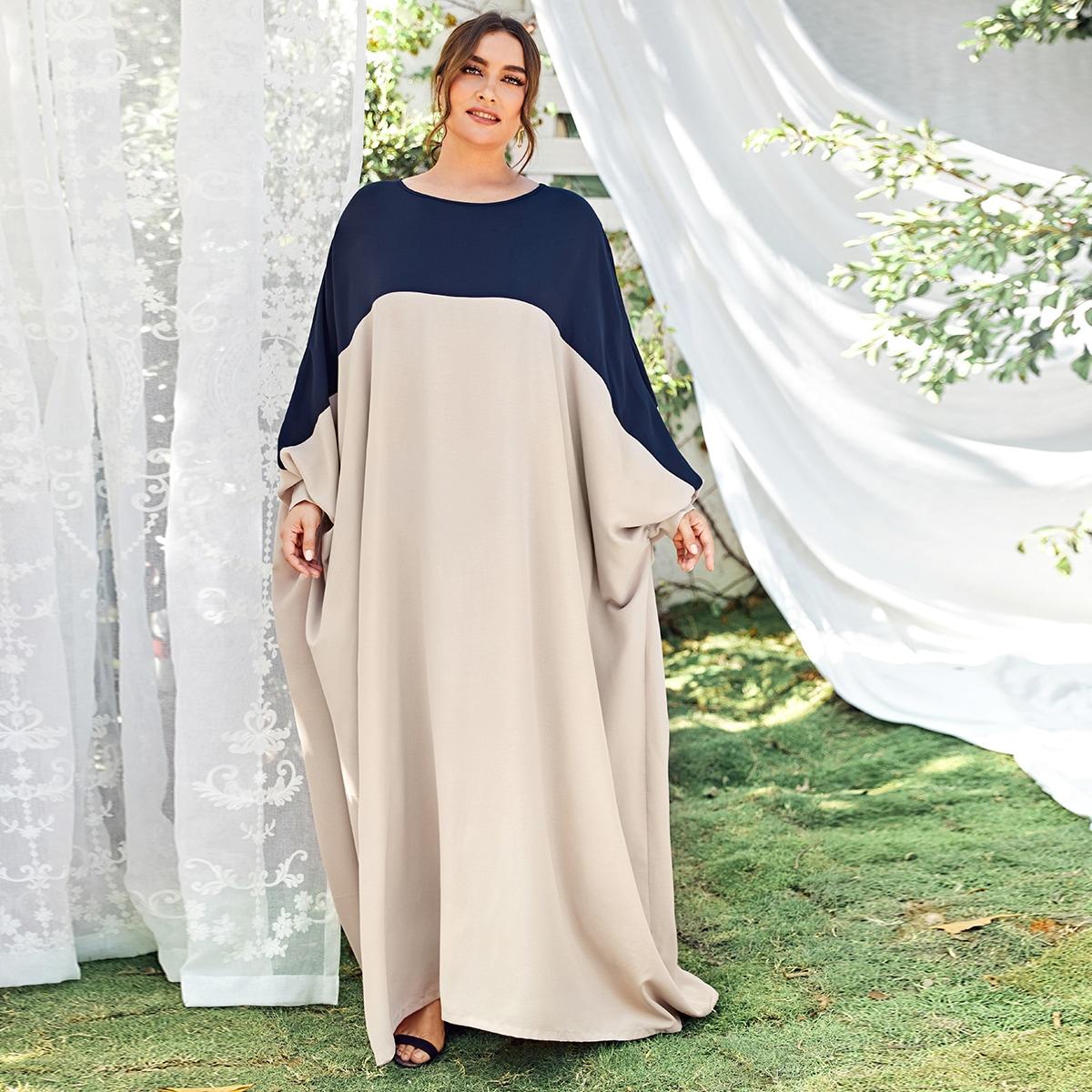 Контрастное платье размеоа плюс