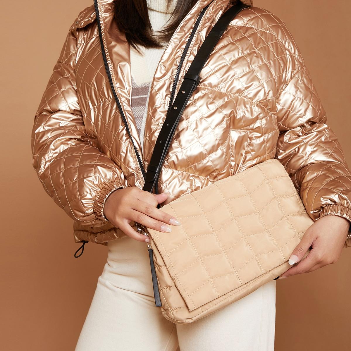 Регулируемый геометрический принт модный сумка через плечо