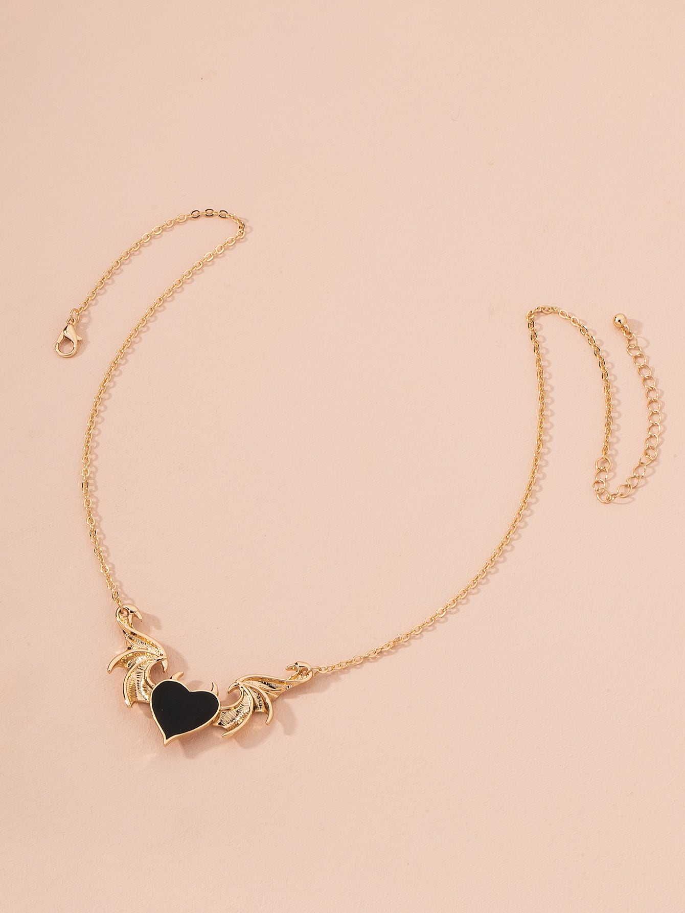 Heart Wing Charm Necklace thumbnail