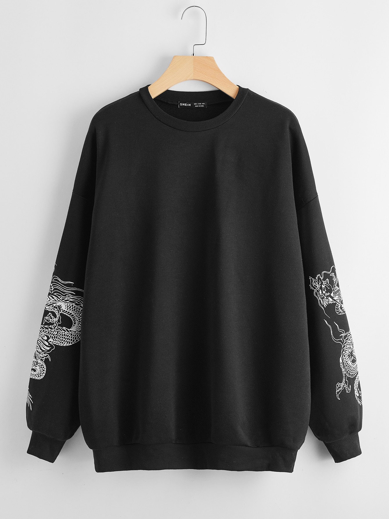 Chinese Dragon Graphic Drop Shoulder Sweatshirt thumbnail
