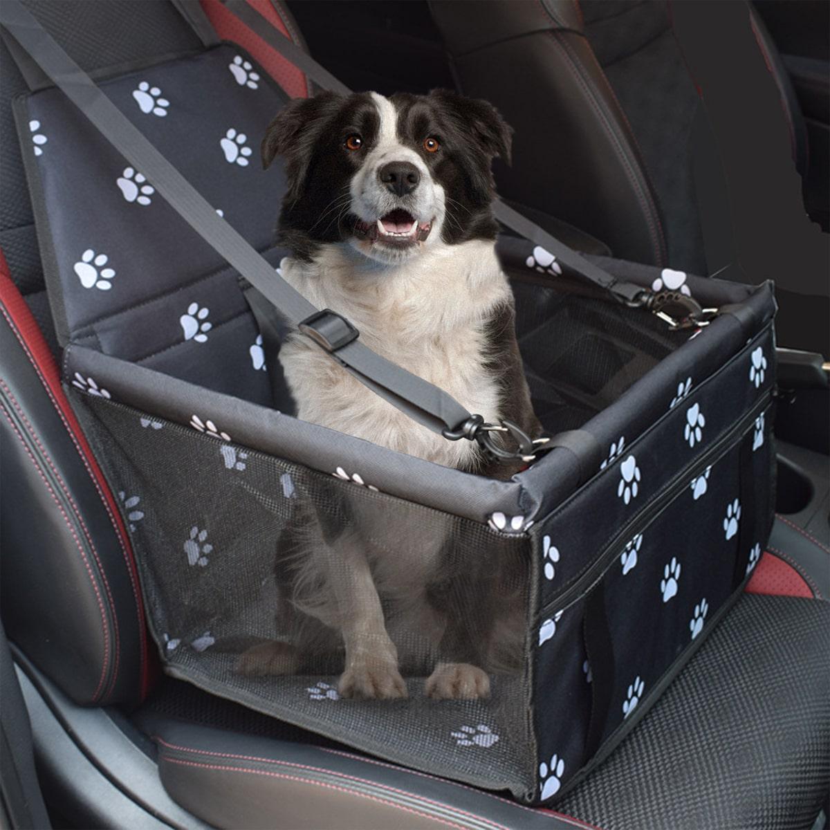 1 Stück Autositz Hundeträgerkorb mit Kontrast-Mesh