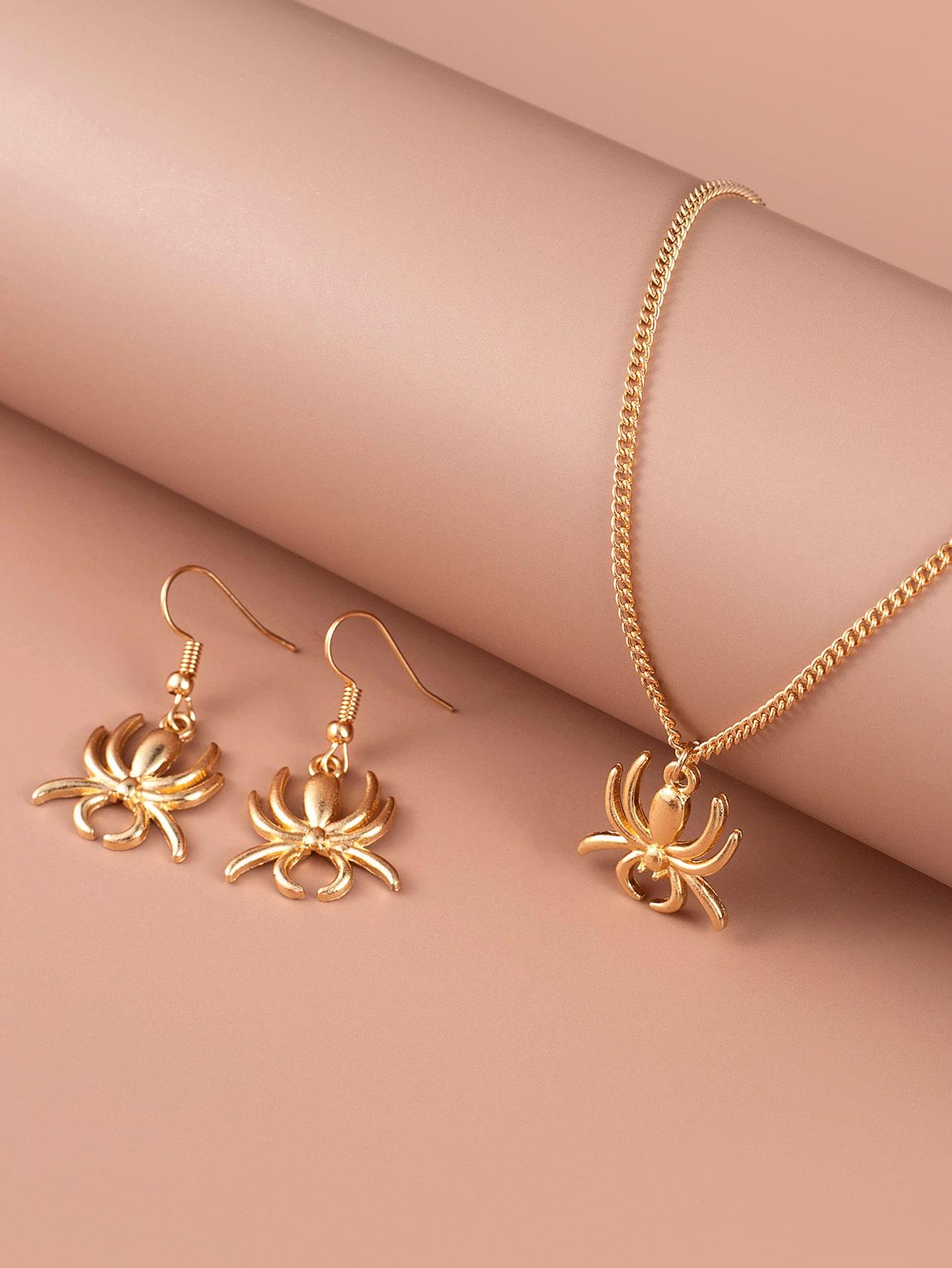 3pcs Spider Charm Jewelry Set thumbnail