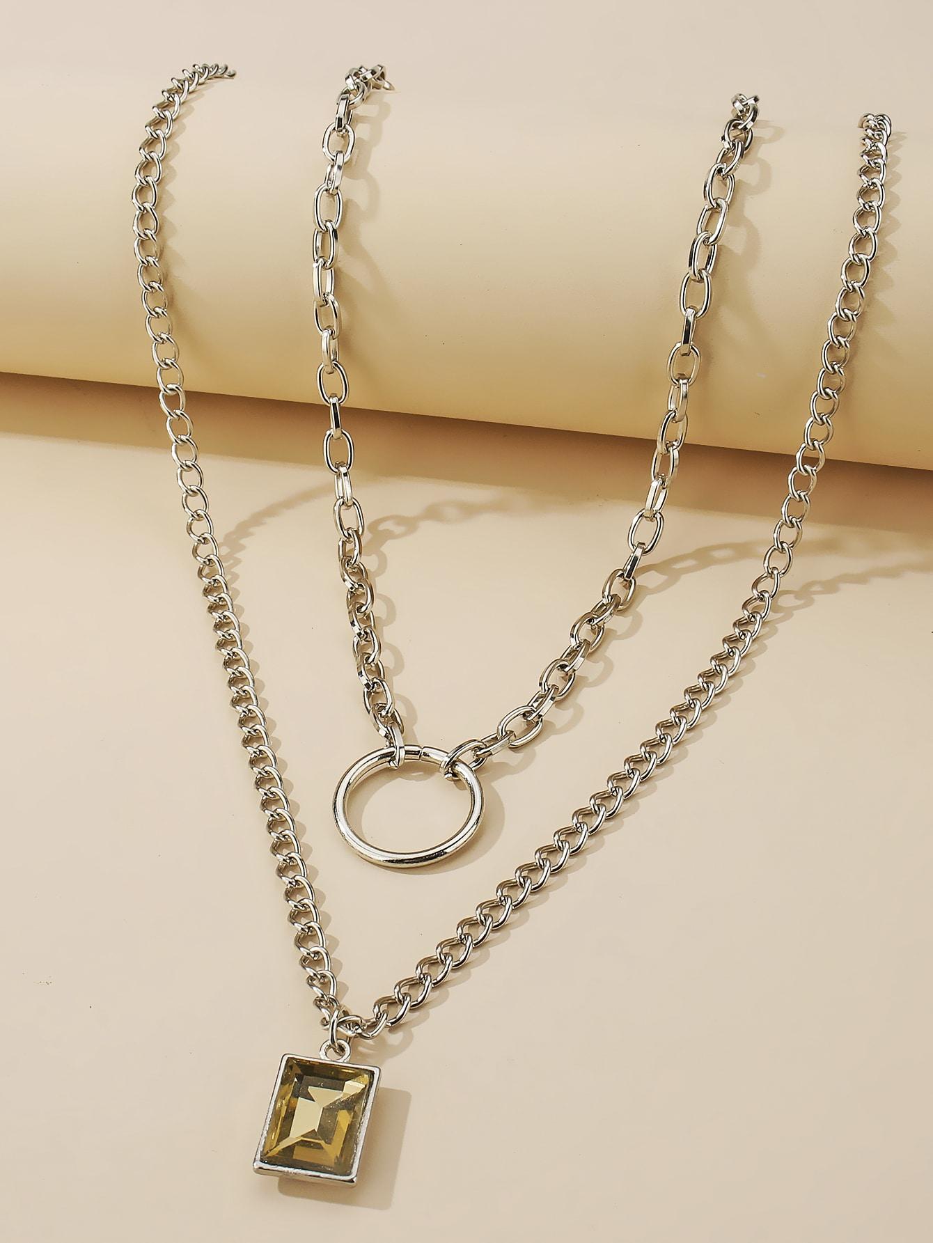 2pcs Gemstone Charm Necklace thumbnail