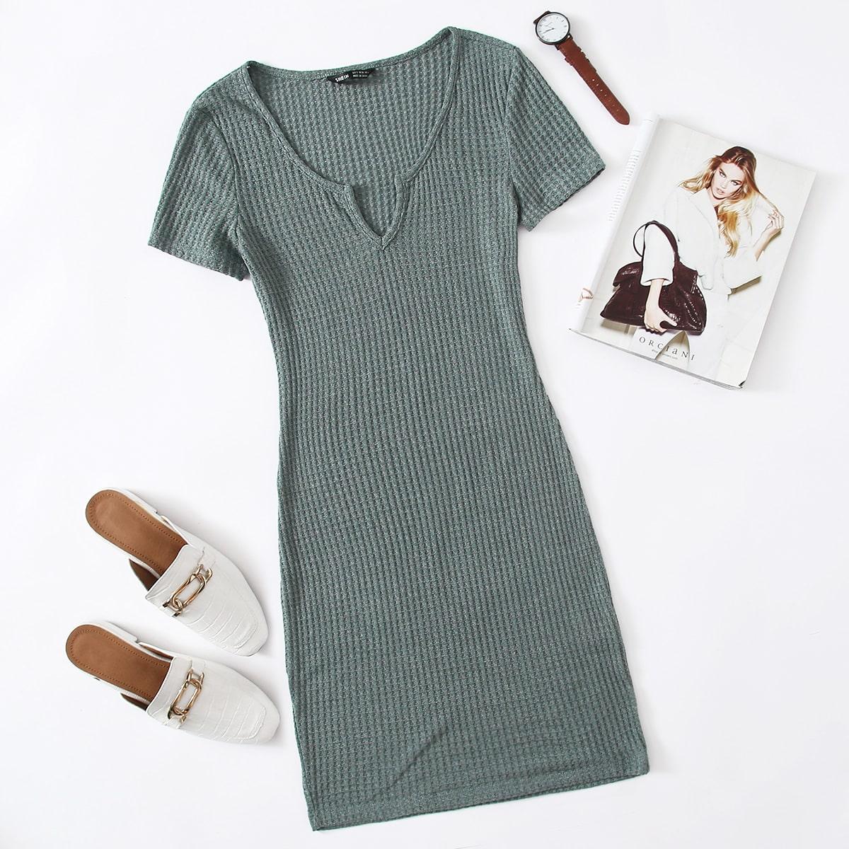 Вязаное платье SheIn swdress07201126677