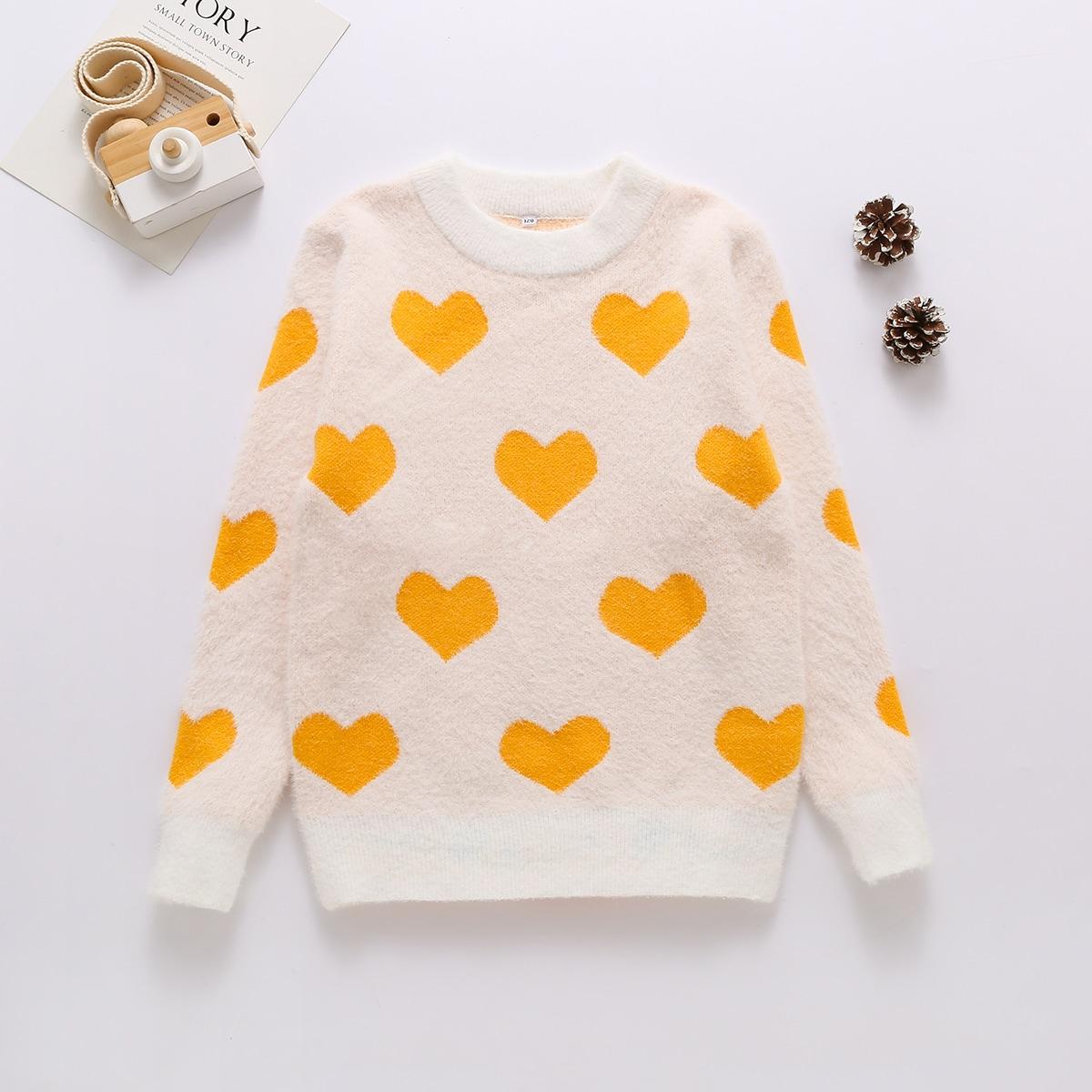 Сердечко повседневный свитера для девочек