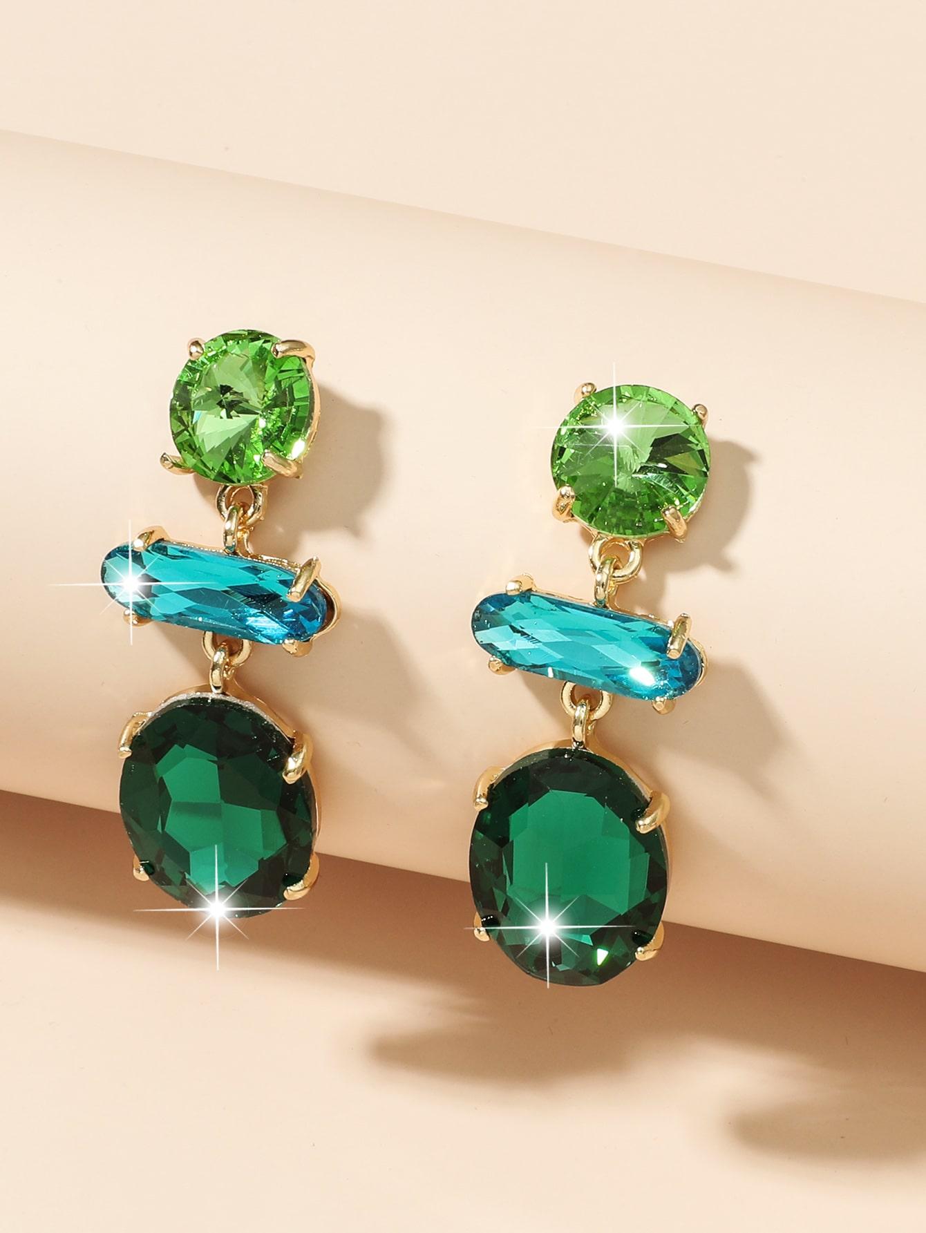Gemstone Drop Earrings thumbnail