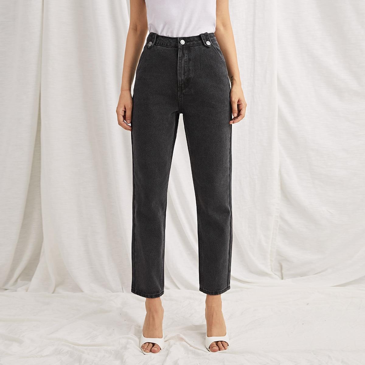 Пугавица одноцветный джинсы