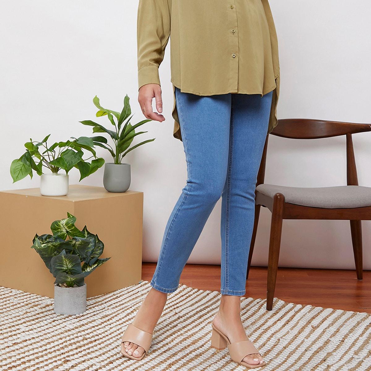 Карман контрастный цвет джинсовая одежда для беременных