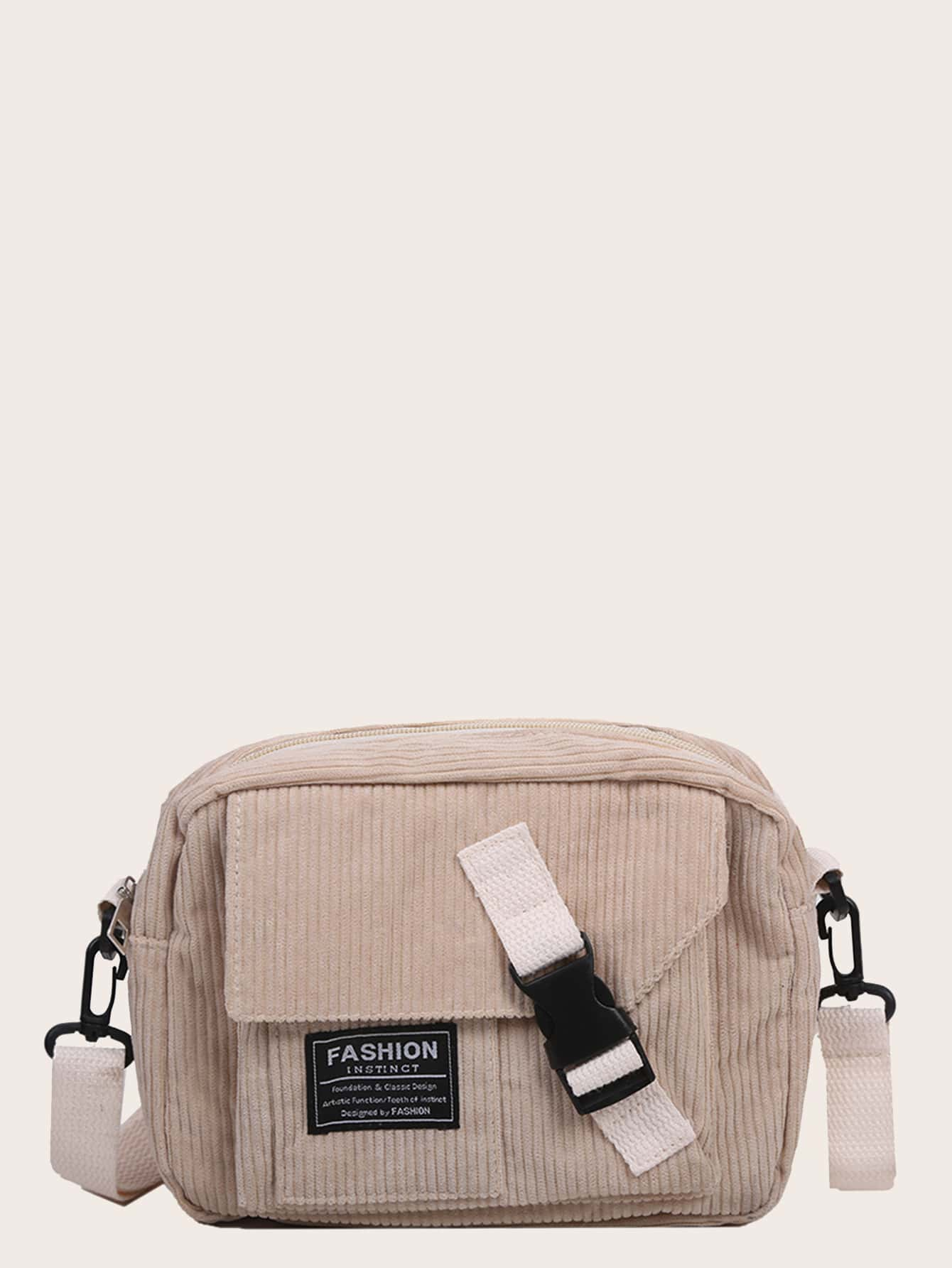 Release Buckle Front Corduroy Crossbody Bag thumbnail