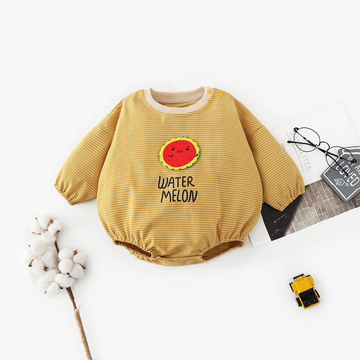 Аппликация мультяшный принт боди для малышей