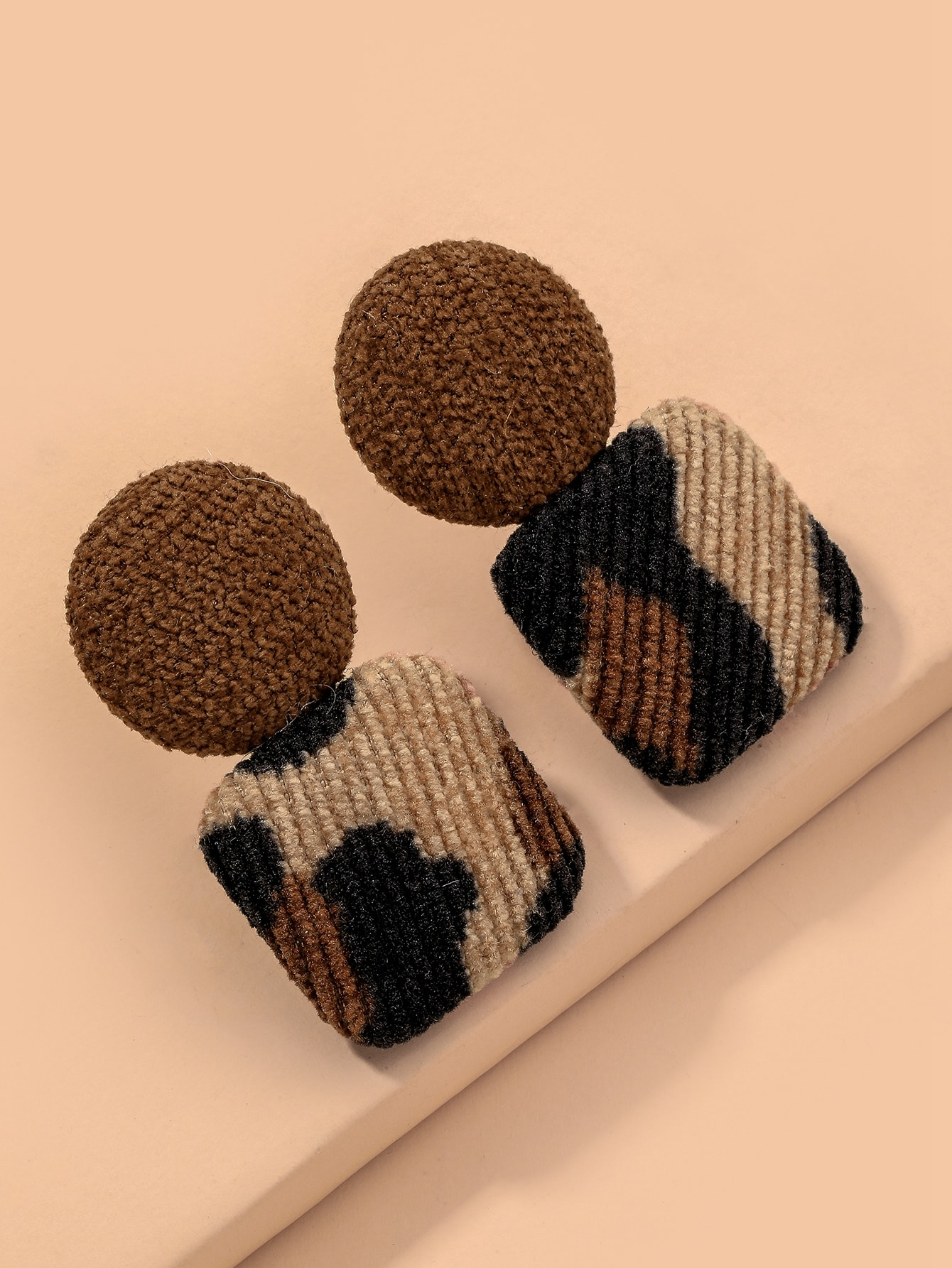 Square & Round Design Earrings thumbnail