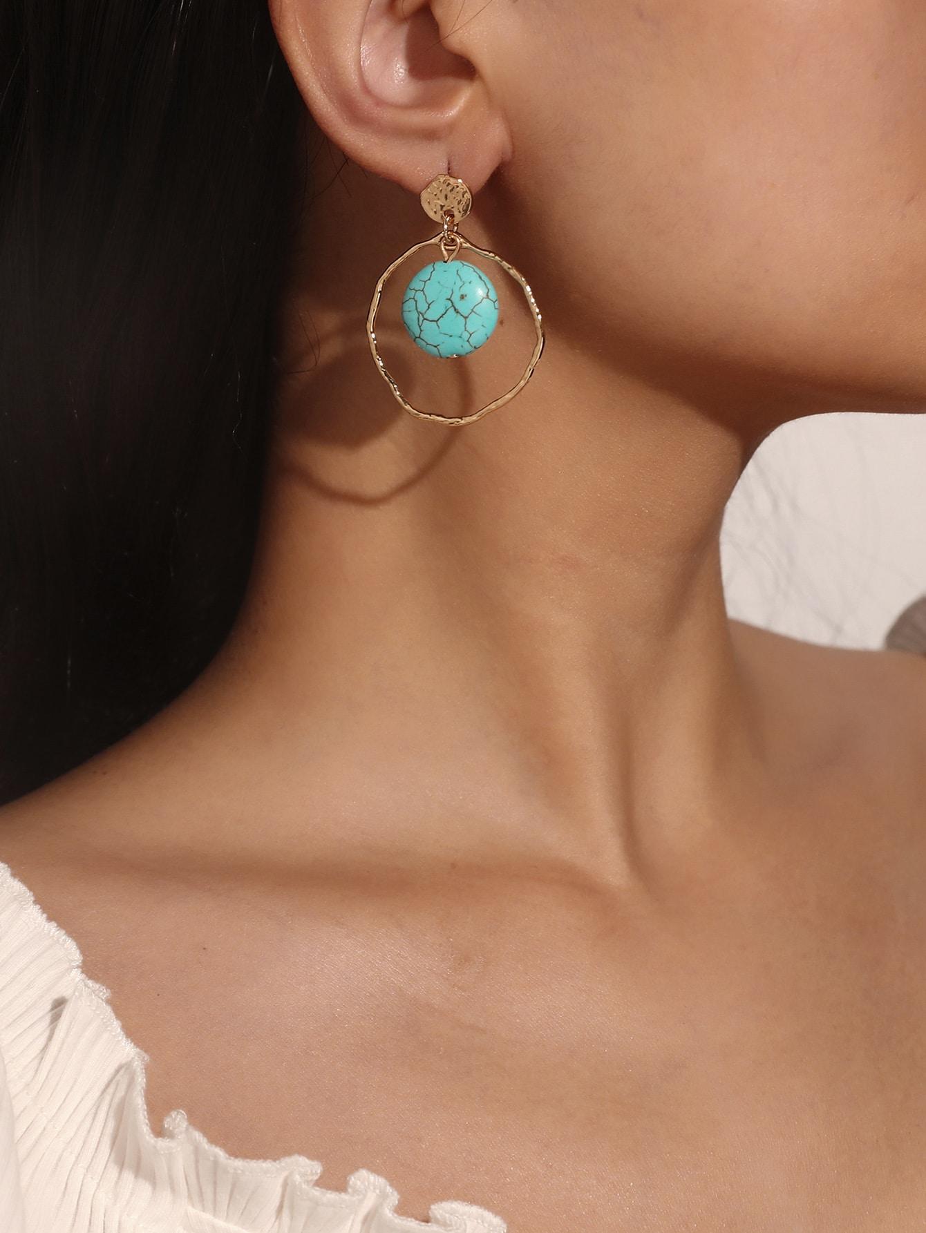 Turquoise Drop Earrings thumbnail