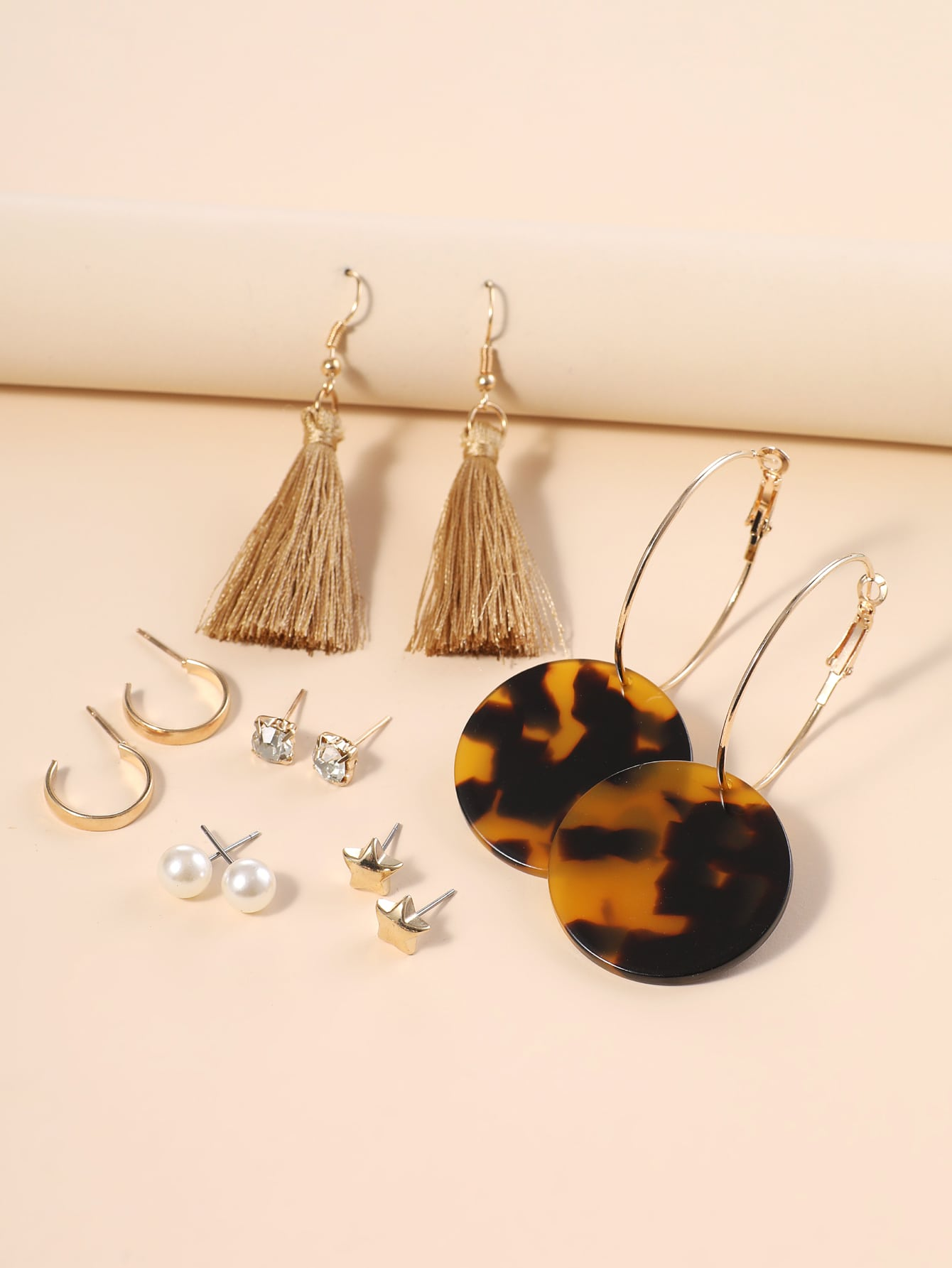 6pairs Tassel Drop Earrings thumbnail