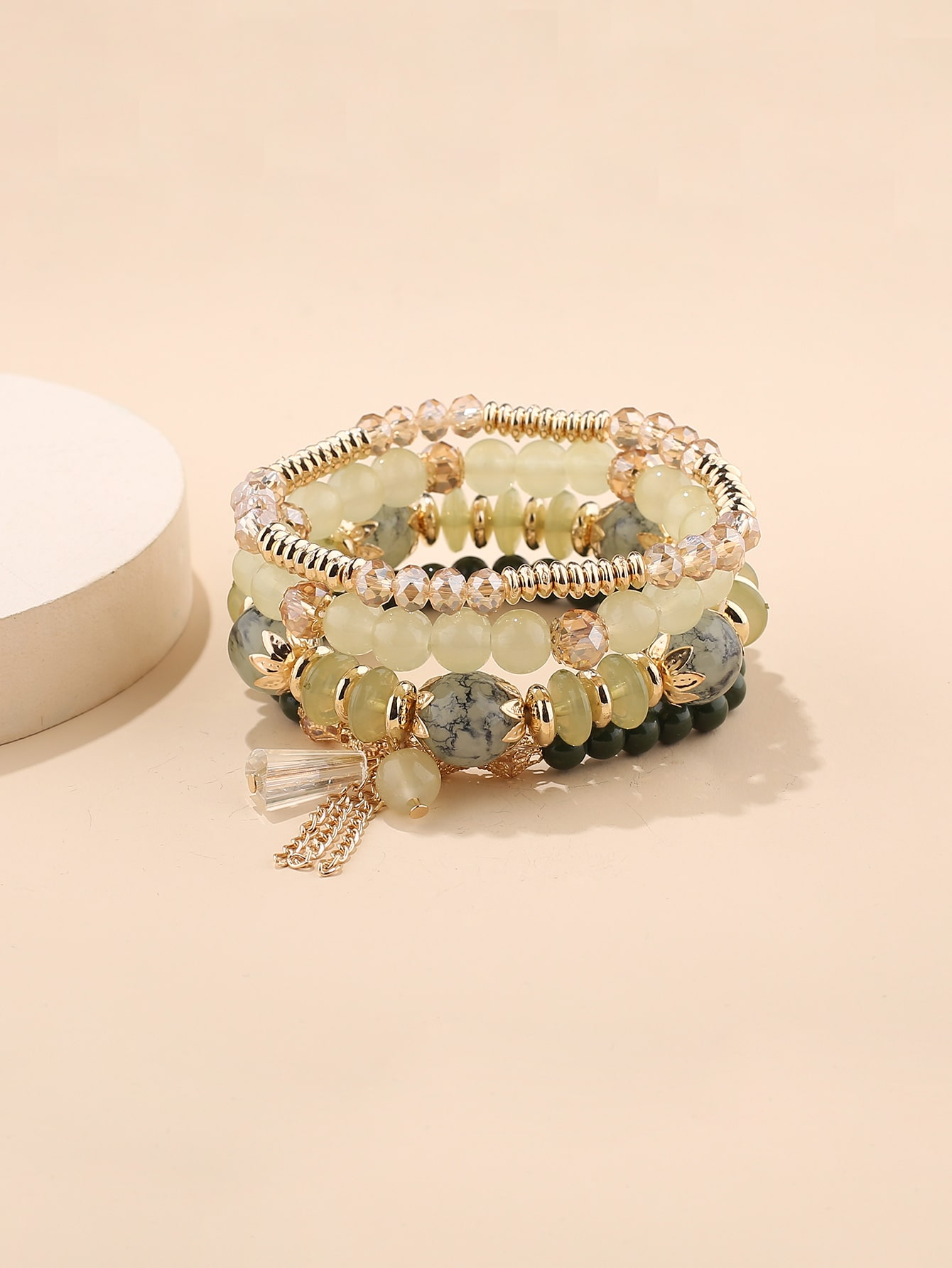 4pcs Crystal Beaded Bracelet thumbnail