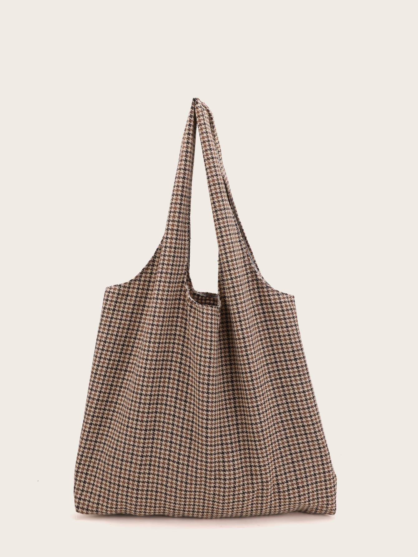Tweed Houndstooth Tote Bag thumbnail