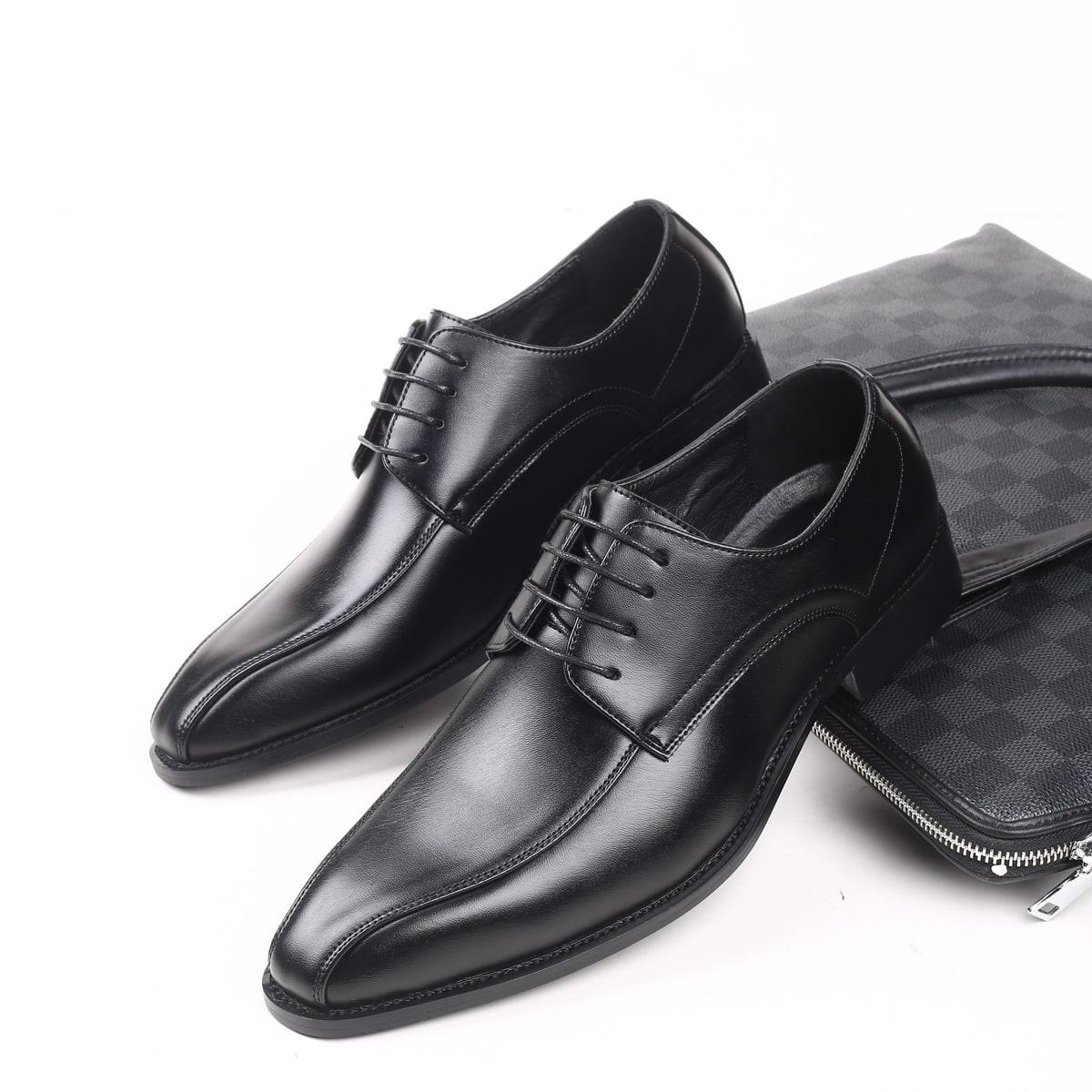 На шнурках одноцветный мужская официальная обувь