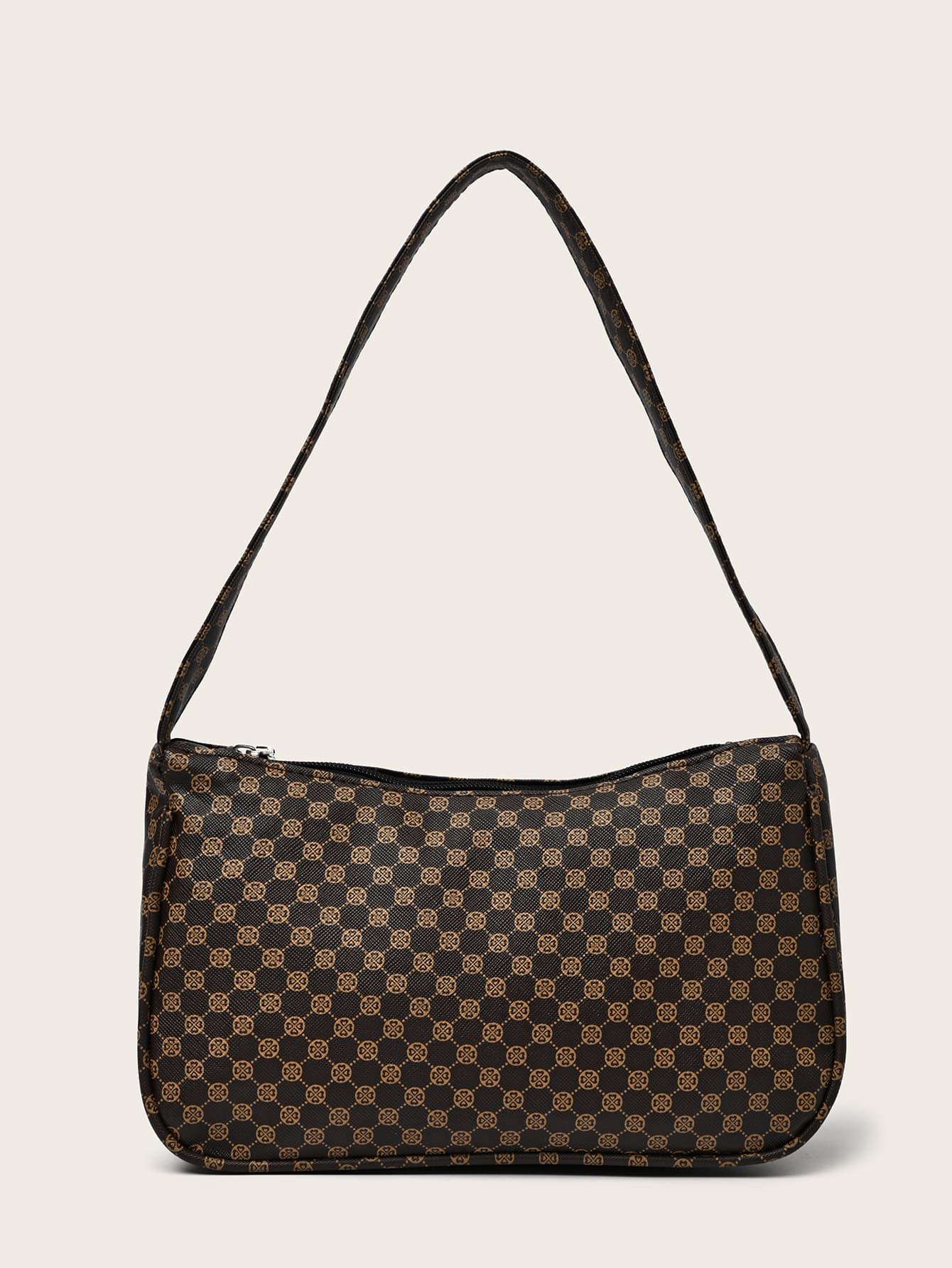 Graphic Zipper Shoulder Bag thumbnail