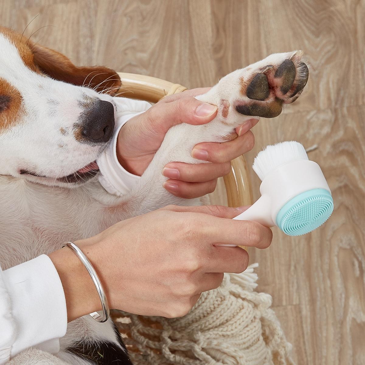 Silikon Hundepfoten-Reinigungsbürste