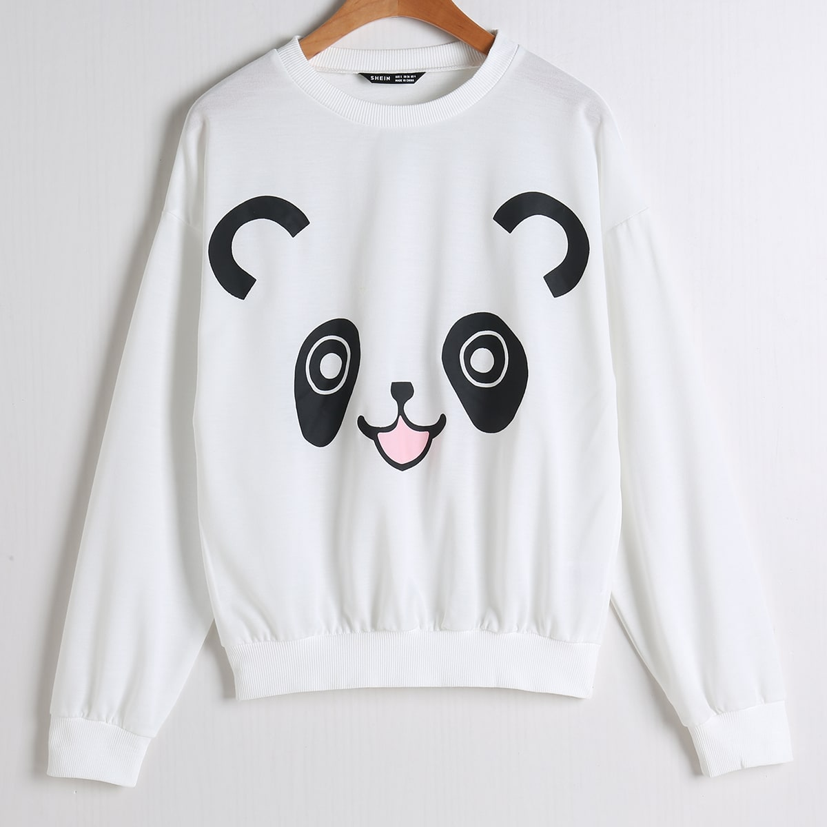 SHEIN / Cartoon Graphic Drop Shoulder Sweatshirt
