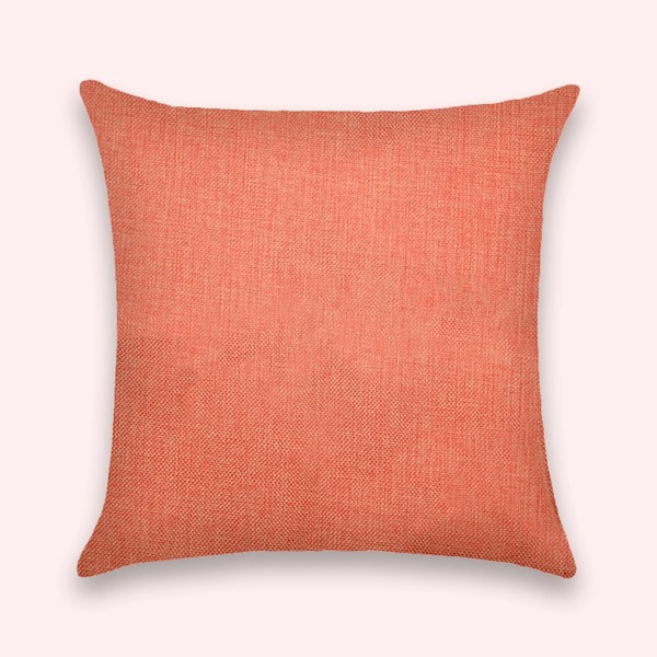 Plain Cushion Cover Without Filler, Orange