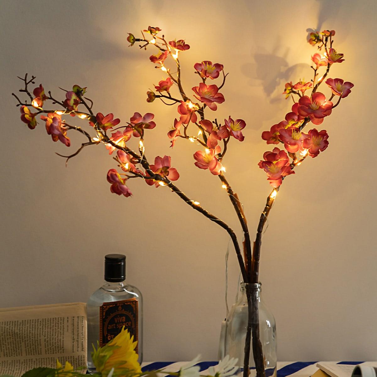 1 Stück Blumenzweig geformtes Nachtlicht