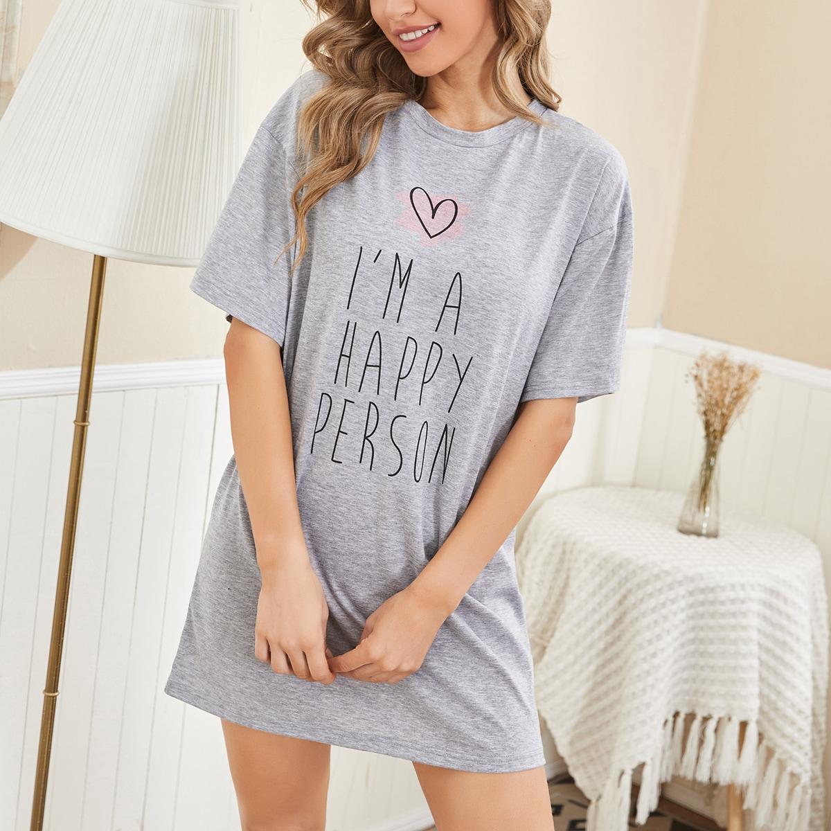 Лозунг милый Ночная рубашка