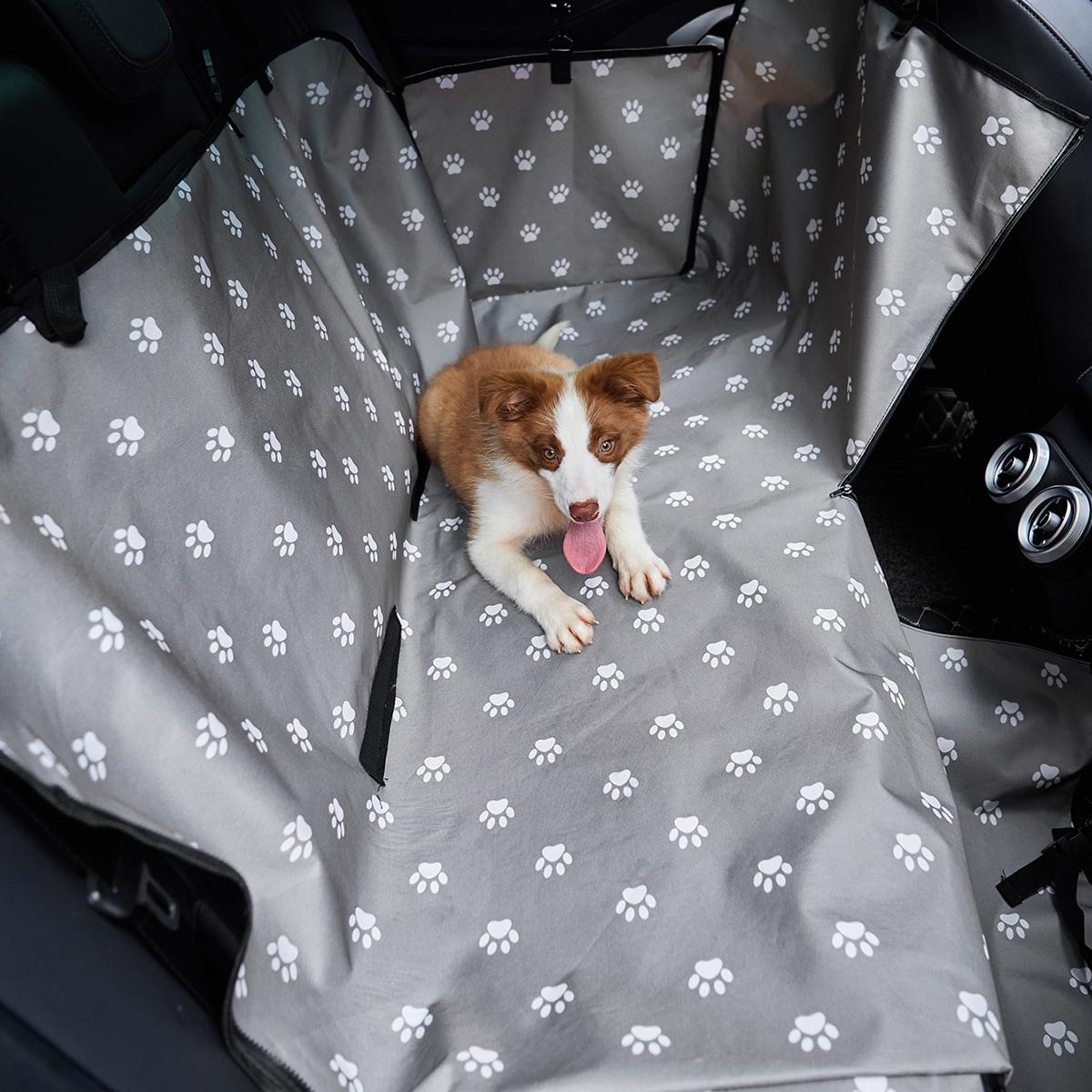 Hund Autositzüberzug mit Pfote Muster